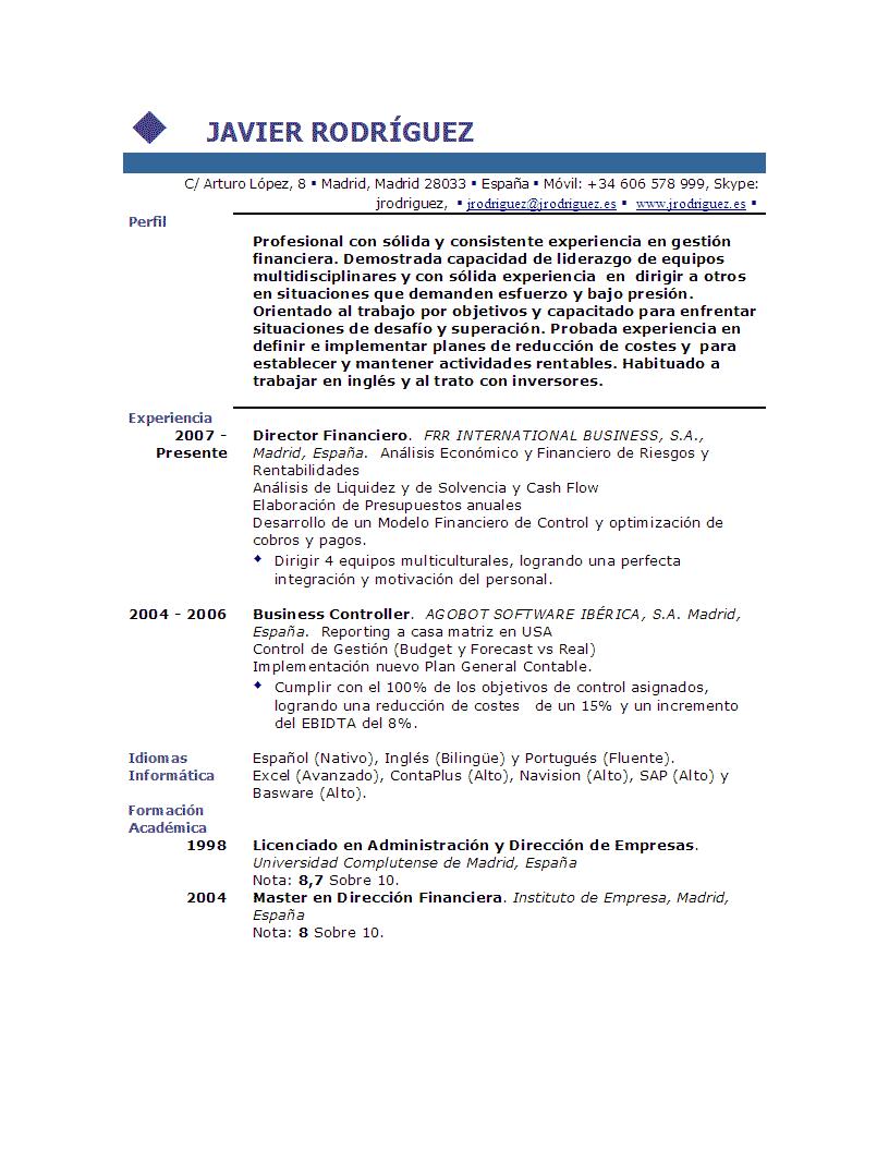 ejemplos de curriculum de trabajo new calendar template site